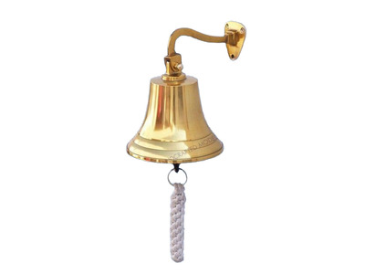 Brass Plated Hanging Ship\'s Bell 9\