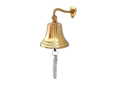 Brass Plated Hanging Ship\'s Bell 6\