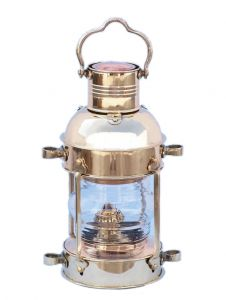 Solid Brass Anchor Oil Lantern 12