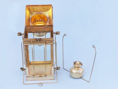 Solid Brass Cargo Oil Lamp 18