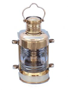 Solid Brass Masthead Electric Lamp 14
