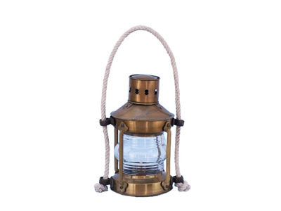Antique Brass Round Anchor Lantern 16