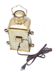 Solid Brass Masthead Electric Lamp 12