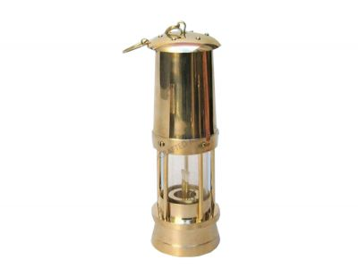 Brass - Glass Miners Oil Lamp 11