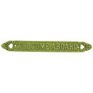 Solid Brass Welcome Aboard Sign 13