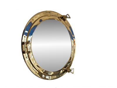 Deluxe Class Brass Porthole Mirror 20