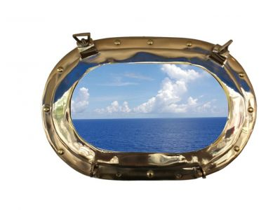 Solid Brass Oblong Porthole Window 14