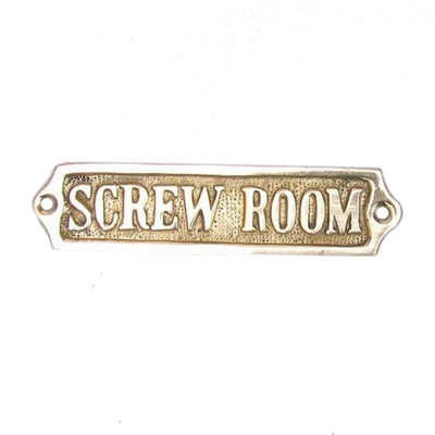 Brass Screw Room Sign 5