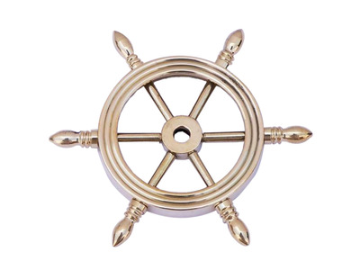Solid Brass Decorative Ship Wheel Paperweight 4\