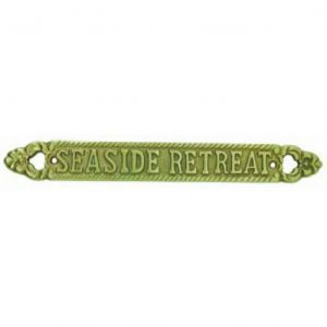Solid Brass Seaside Retreat Sign 13