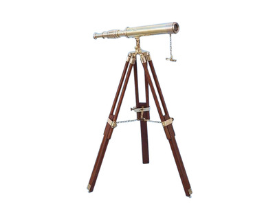 Floor Standing Brass Harbor Master Telescope 30