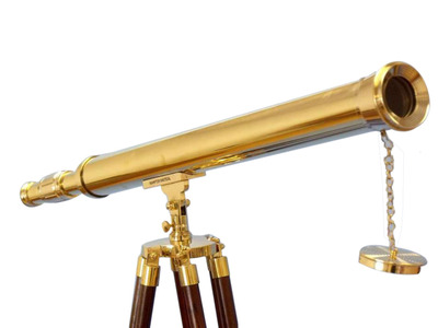 Floor Standing Brass Harbor Master Telescope 60""