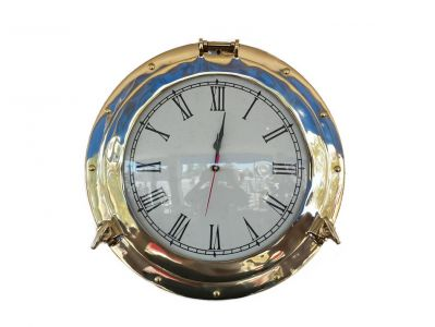 Brass Deluxe Class Porthole Clock 12