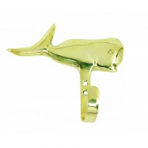 Solid Brass Whale Key Hook 5