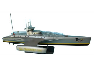 "Whale Wars - Brigitte Bardot Limited Model Boat 14"" 50% profits donated to seashepherd.org"