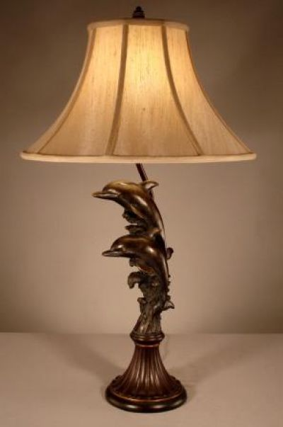 Bronze Dolphin Electric Lamp 31