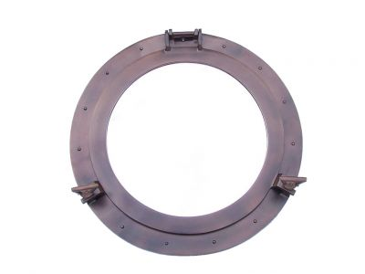 Bronze Deluxe Class Decorative Ship Porthole Mirror 24\