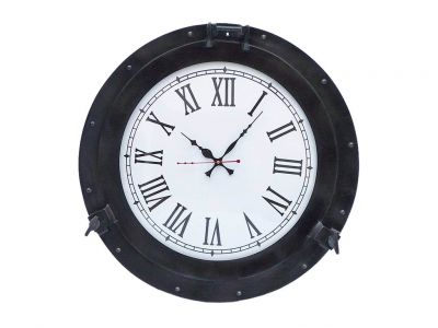 Oil Rubbed Bronze Deluxe Class Porthole Clock 20\