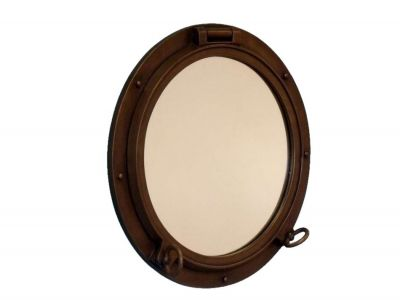 Bronzed Porthole Window 24
