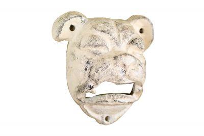 Whitewashed Cast Iron Bulldog Bottle Opener 4\