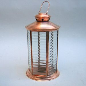 6 Sided Copper Candle Lantern 13