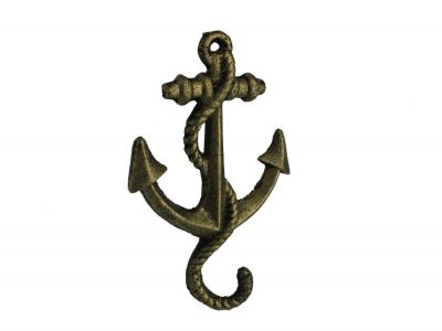 Rustic Gold Cast Iron Anchor Hook 5\