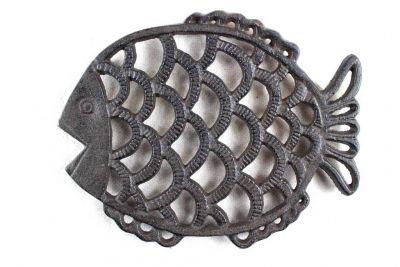 Cast Iron Big Fish Trivet 8\