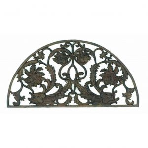Rustic Cast Iron Dolphin Arch Doormat 29