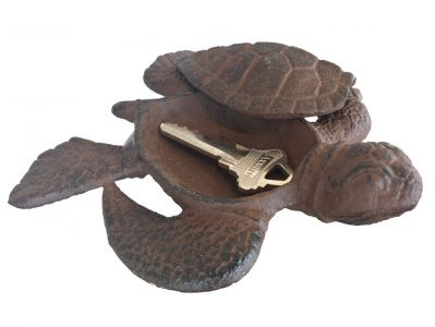 Rustic Cast Iron Turtle Hide A Key 5