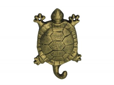 Rustic Gold Cast Iron Turtle Hook 6\