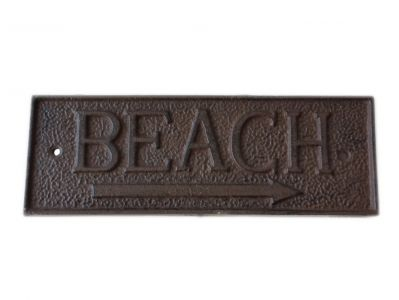 Rustic Iron Beach Sign 10