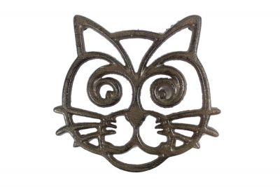 Cast Iron Cat Trivet 7\