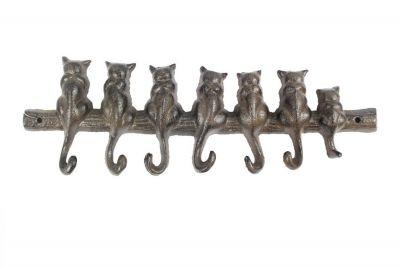 Cast Iron Cat Wall Hooks 13\