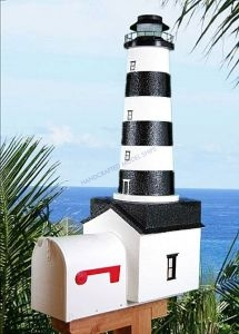 Cape Canaveral Solar Powered Stucco Lighthouse Mailbox 36