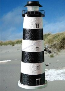 Cape Canaveral Stucco Electric Landscape Lighthouse 24