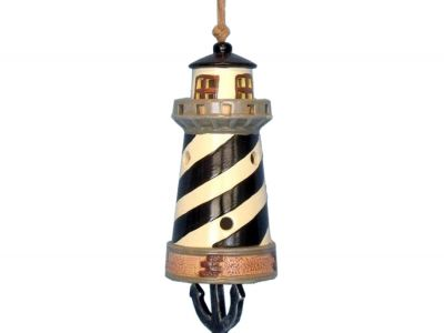 Ceramic Black Lighthouse Tower Bell 8