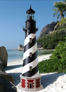 Cape Hatteras Stucco Electric Lawn Lighthouse 96