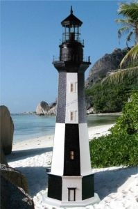 Cape Henry Stucco Electric Lawn Lighthouse 144