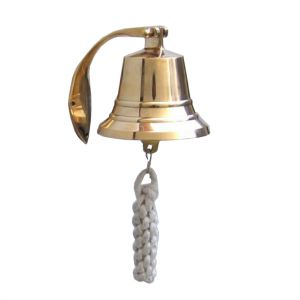 Brass Plated Hanging Harbor Bell 4\