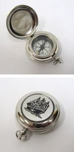 Chrome Dalvey Compass 2 with Engraved Sailboat Lid