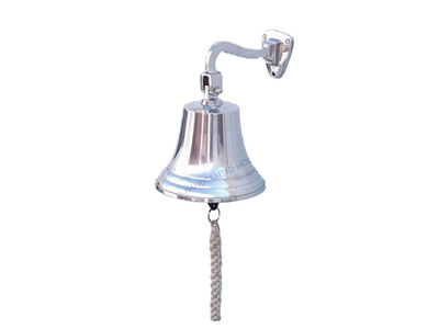 Chrome Hanging Ships Bell 11