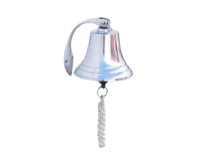 Chrome Hanging Harbor Bell 5.5\