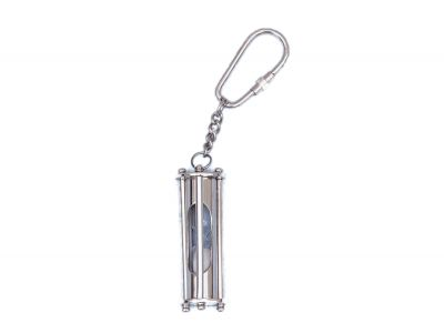 Chrome Hour Glass Key Chain 6
