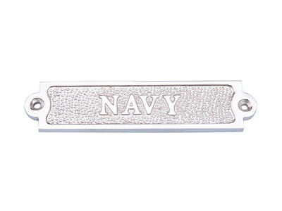 Chrome Navy Sign 6