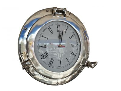 Chrome Deluxe Class Porthole Clock 15