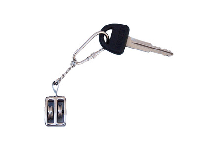 Chrome Pulley Key Chain 5\