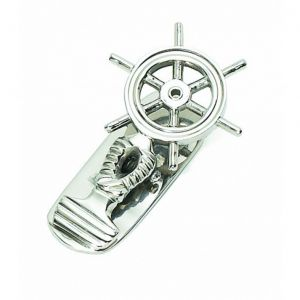 Chrome Ship Wheel Paper Clip 5