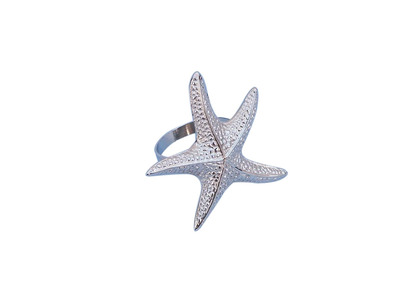 Chrome Starfish Napkin Ring 3