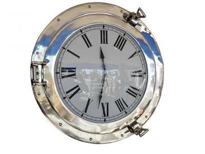 Chrome Deluxe Class Porthole Clock 20