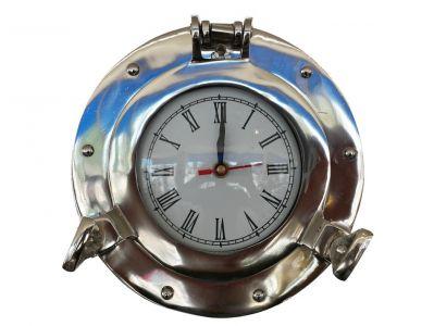 Deluxe Class Chrome Porthole Clock 8